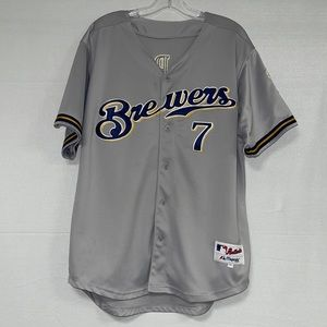 Majestic Athlete Authentic Hardy #7 Brewer Jersey